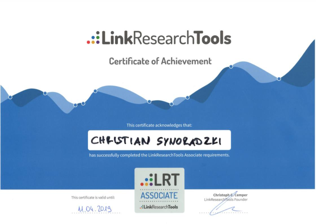 LinkResearchTools - LRT Associate
