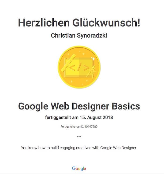 Google-Webdesign-Zertifika