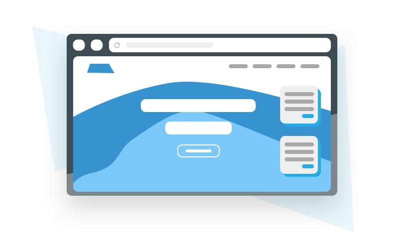 Professionelles Webdesign, Beispiel Landingpage